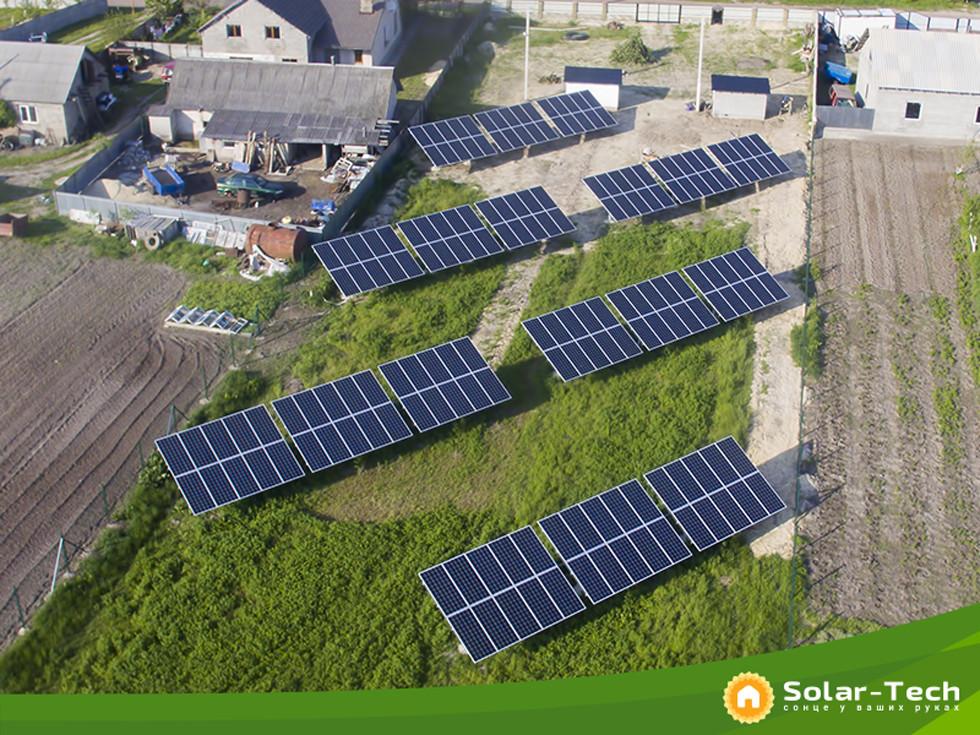 Наземна сонячна електростанція 30 кВт під зелений тариф у місті Радивилів