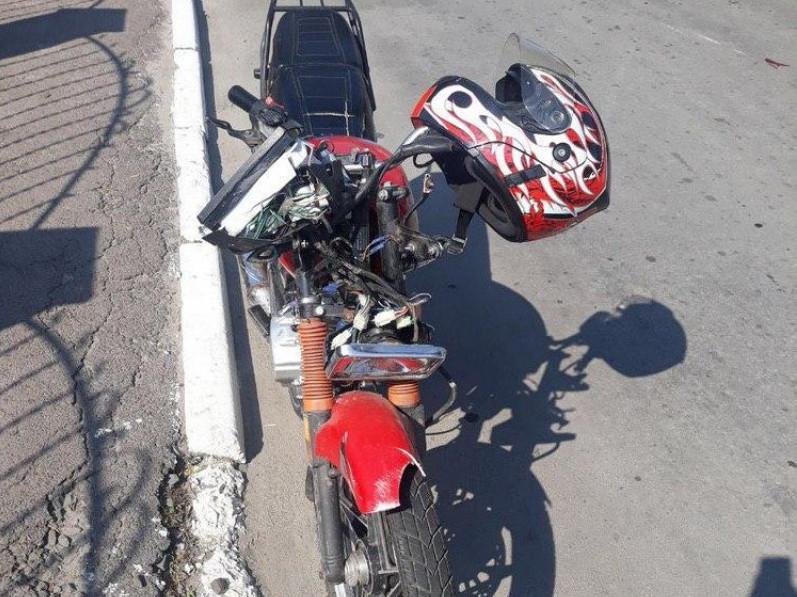 Юний мотоцикліст не вибрав безпечної швидкості