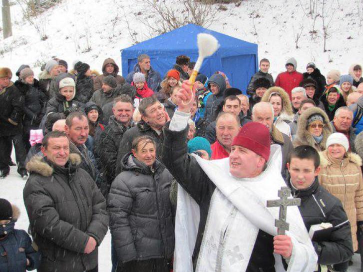 Освячення води на річці Корчику минулих років