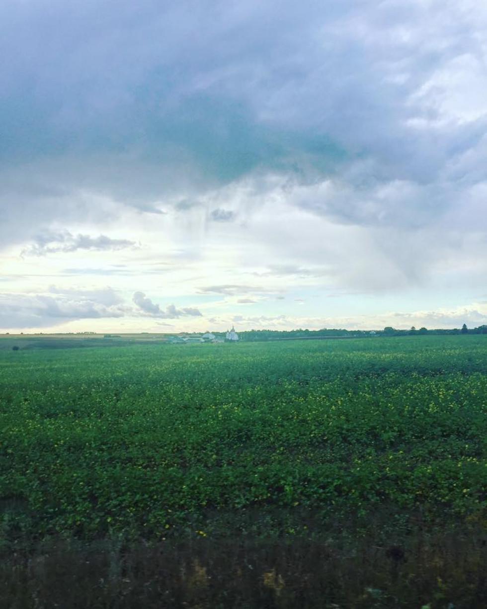 Корецький район:небо перед останньою грозою