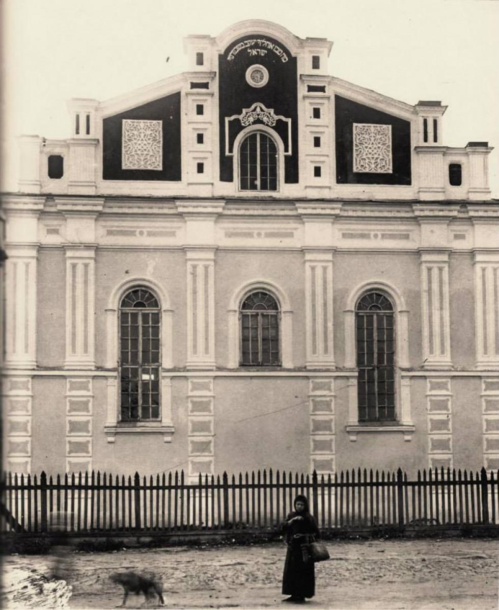 Корець, Рівненська обл., фото синагоги, зроблене під час етнографічної експедиції С.Ан-ського в 1912-1914 рр.