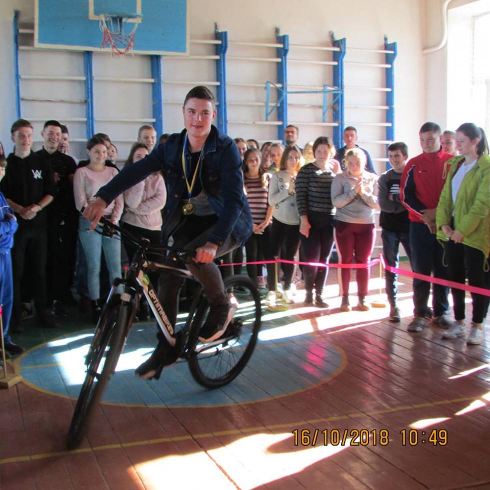 Вадим Столярчук отримав велосипед