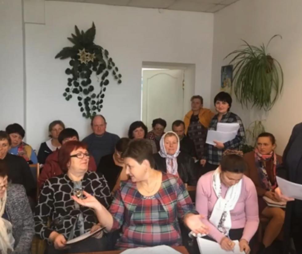 Працівники  виконавчих органів сільських рад Корецького району