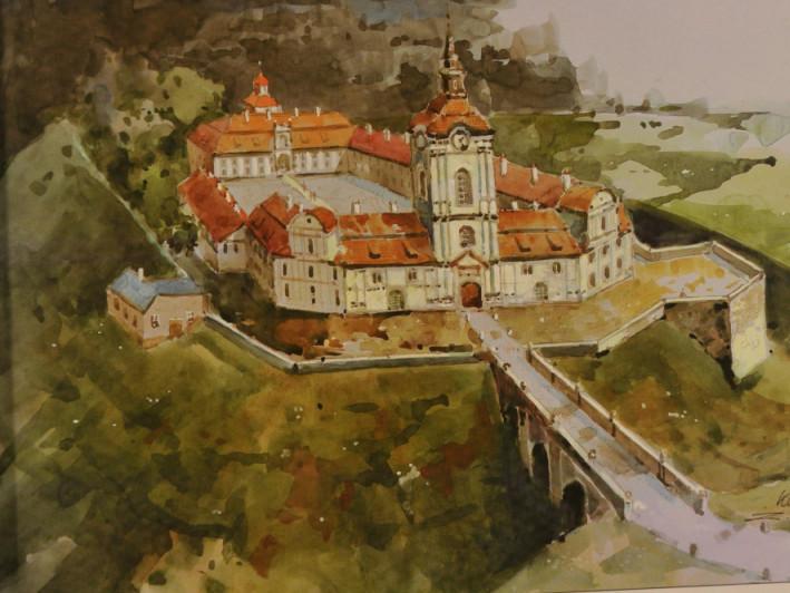 Корецький замок на малюнку Збігнева Шчепанека
