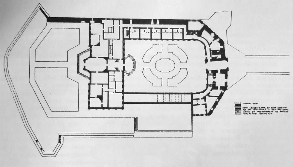 План замку у Корці після перебудови XVIII століття.