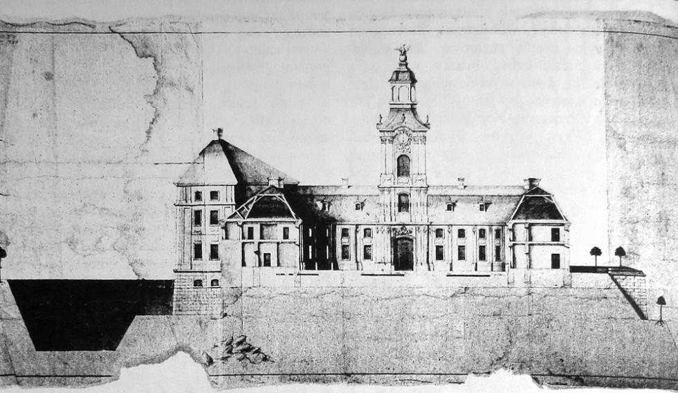 Проект палацу в Корці. Зберігається в Окружному музеї м. Тарнув.