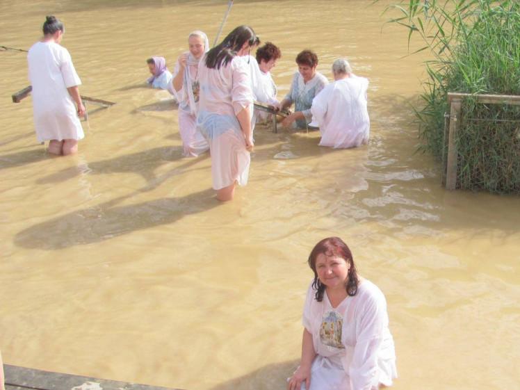 Наталія Павлівна купалася у річці Йордан